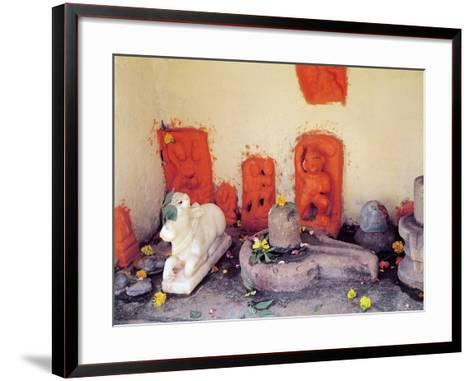A Shrine of a Chapel on the Ganges--Framed Art Print