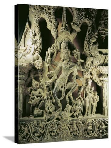 Lintel with Shiva Nataraja, Kakatiya Dynasty--Stretched Canvas Print