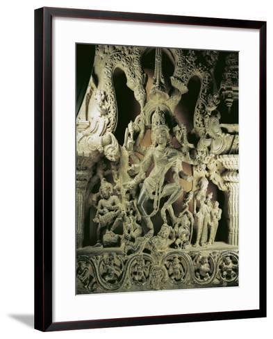 Lintel with Shiva Nataraja, Kakatiya Dynasty--Framed Art Print