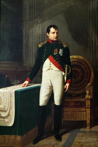 Portrait of Napoleon Bonaparte 1809-Robert Lefevre-Stretched Canvas Print