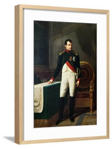 Portrait of Napoleon Bonaparte 1809-Robert Lefevre-Framed Art Print