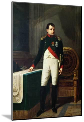 Portrait of Napoleon Bonaparte 1809-Robert Lefevre-Mounted Giclee Print