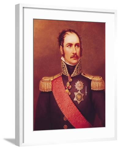 Portrait of Prince Eugene de Beauharnais Viceroy of Italy and Duke of Leuchtenberg-Jacques-Louis David-Framed Art Print
