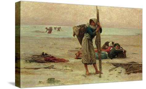 Oyster Catching, 1884-Pierre Celestin Billet-Stretched Canvas Print
