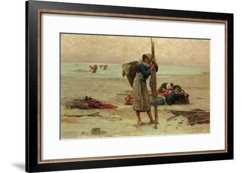 Oyster Catching, 1884-Pierre Celestin Billet-Framed Art Print