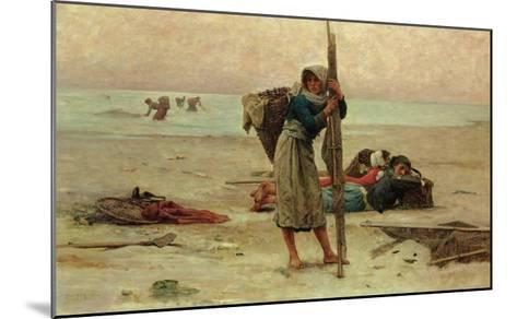 Oyster Catching, 1884-Pierre Celestin Billet-Mounted Giclee Print