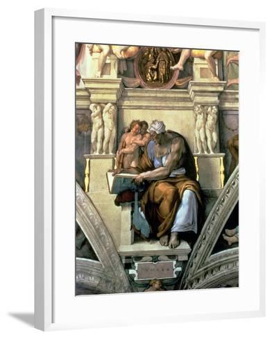 Sistine Chapel Ceiling: Cumaean Sibyl, 1510-Michelangelo Buonarroti-Framed Art Print