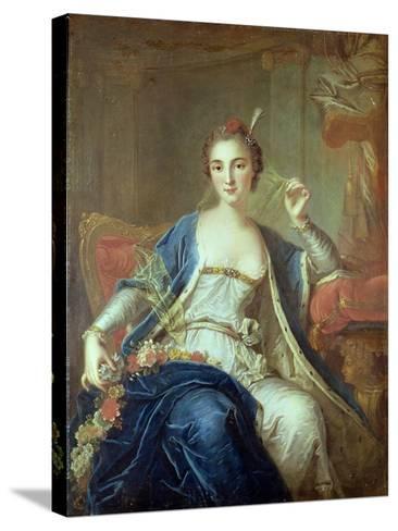 Portrait of Mademoiselle Marie Salle 1737-Louis-Michel van Loo-Stretched Canvas Print
