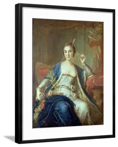 Portrait of Mademoiselle Marie Salle 1737-Louis-Michel van Loo-Framed Art Print