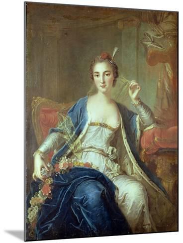 Portrait of Mademoiselle Marie Salle 1737-Louis-Michel van Loo-Mounted Giclee Print