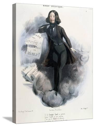 Caricature of George Sand circa 1848-Alcide Joseph Lorentz-Stretched Canvas Print