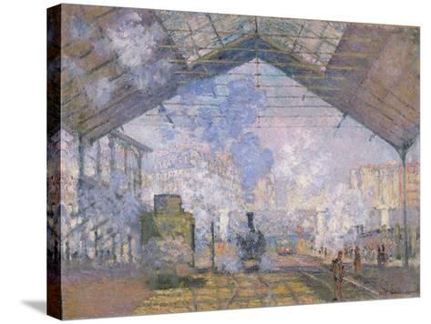The Gare St. Lazare, 1877-Claude Monet-Stretched Canvas Print