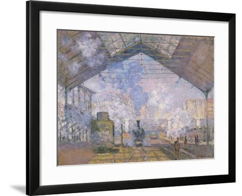 The Gare St. Lazare, 1877-Claude Monet-Framed Art Print