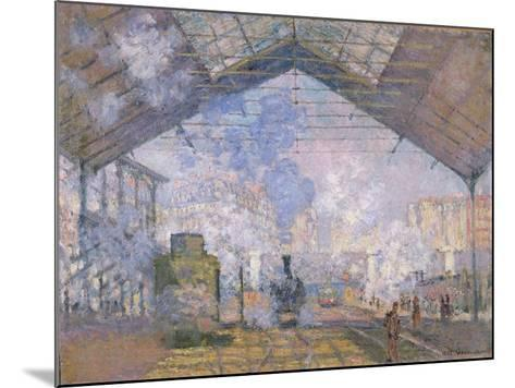 The Gare St. Lazare, 1877-Claude Monet-Mounted Giclee Print