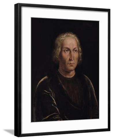 Portrait of Christopher Columbus--Framed Art Print