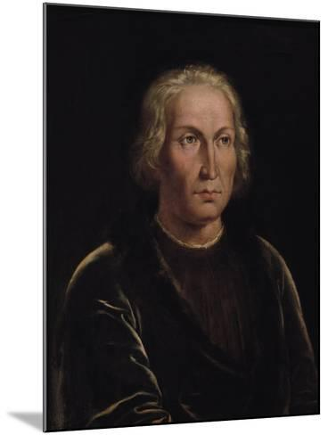 Portrait of Christopher Columbus--Mounted Giclee Print