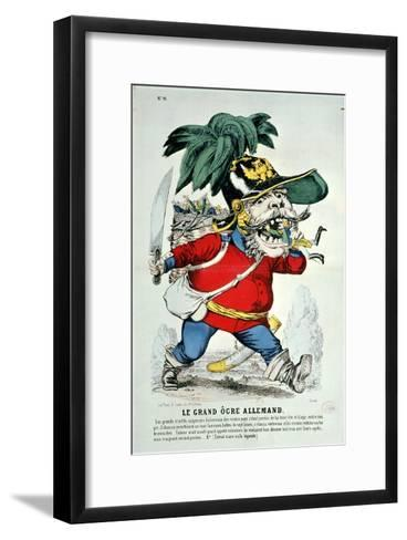 The Giant German Ogre, Caricature of Otto Von Bismarck--Framed Art Print