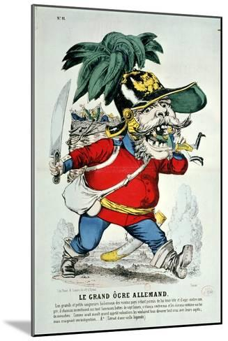 The Giant German Ogre, Caricature of Otto Von Bismarck--Mounted Giclee Print