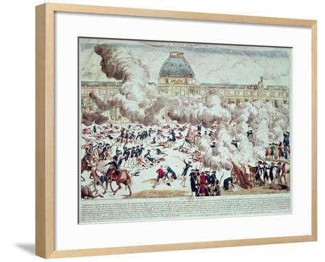 Attack on the Tuileries, 10th August 1792--Framed Art Print