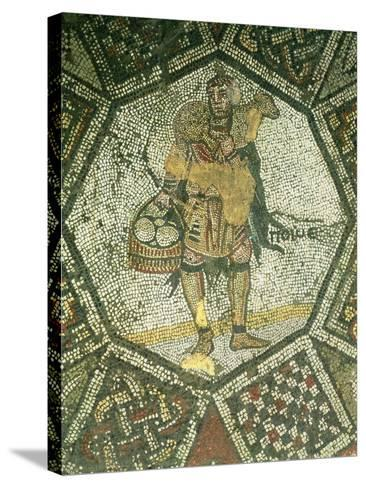 Peasant Carrying a Ewe and a Basket of Cheese, from the Imperial Palace in Constantinople--Stretched Canvas Print