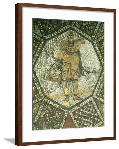Peasant Carrying a Ewe and a Basket of Cheese, from the Imperial Palace in Constantinople--Framed Art Print