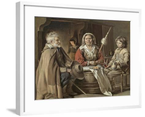 Peasants in an Interior-Mathieu Le Nain-Framed Art Print