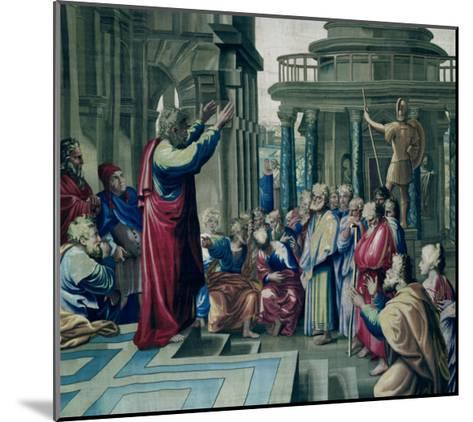 St. Paul Preaching at the Areopagus, from a Series Depicting the Acts of the Apostles-Raphael-Mounted Giclee Print