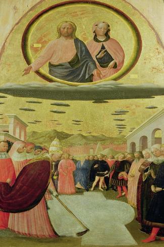 Pope Liberius Founding the Basilica of Santa Maria Della Neve-Tommaso Masolino Da Panicale-Stretched Canvas Print