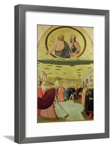Pope Liberius Founding the Basilica of Santa Maria Della Neve-Tommaso Masolino Da Panicale-Framed Art Print