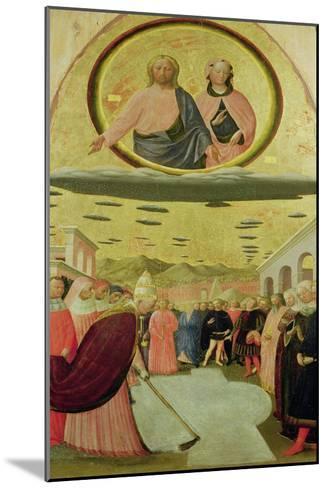 Pope Liberius Founding the Basilica of Santa Maria Della Neve-Tommaso Masolino Da Panicale-Mounted Giclee Print
