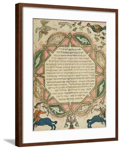 Page from a Hebrew Bible Depicting Domestic Animals and Centaurs, 1299-Joseph Asarfati-Framed Art Print