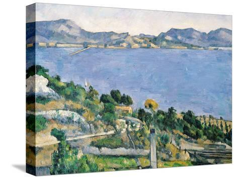 L'Estaque, View of the Bay of Marseilles, circa 1878-79-Paul C?zanne-Stretched Canvas Print