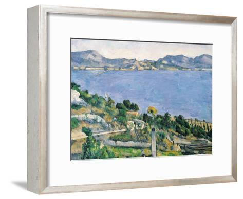 L'Estaque, View of the Bay of Marseilles, circa 1878-79-Paul C?zanne-Framed Art Print