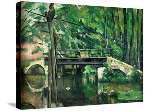 The Bridge at Maincy, or the Bridge at Mennecy, or the Little Bridge, circa 1879-Paul C?zanne-Stretched Canvas Print