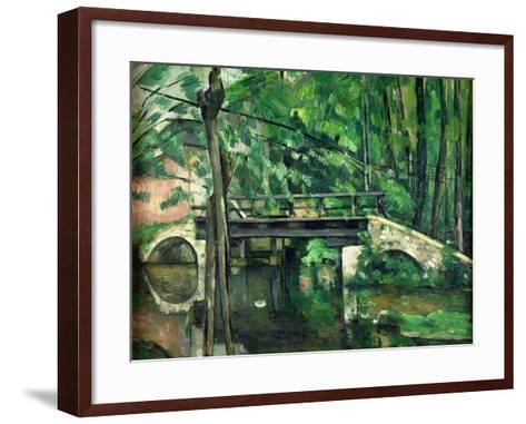 The Bridge at Maincy, or the Bridge at Mennecy, or the Little Bridge, circa 1879-Paul C?zanne-Framed Art Print