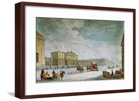 View of the Imperial Bank and the Shops at St. Petersburg- Mornay-Framed Art Print