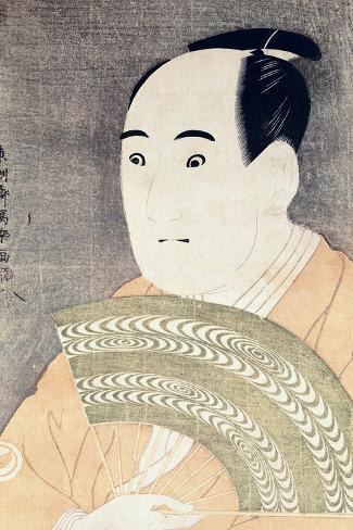 "Sawamura Sojuro III in the Role of Ogishi Kurando in the Play ""Hana Ayame Bunroku Soga"", 1794-Toshusai Sharaku-Stretched Canvas Print"