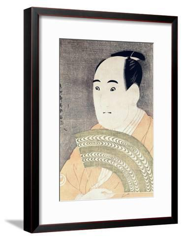 "Sawamura Sojuro III in the Role of Ogishi Kurando in the Play ""Hana Ayame Bunroku Soga"", 1794-Toshusai Sharaku-Framed Art Print"