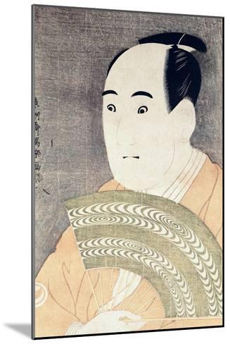 "Sawamura Sojuro III in the Role of Ogishi Kurando in the Play ""Hana Ayame Bunroku Soga"", 1794-Toshusai Sharaku-Mounted Giclee Print"