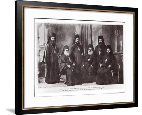 Bulgarian Bishops of Macedonia Chased Away from Their Diocese by Serbs, 1913--Framed Art Print