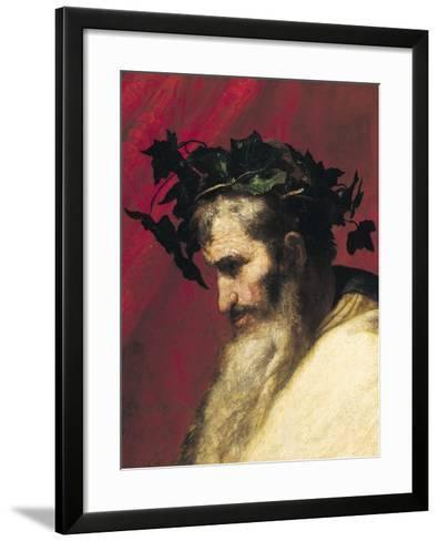 Head of an Old Man, Fragment from the Triumph of Bacchus-Jusepe de Ribera-Framed Art Print
