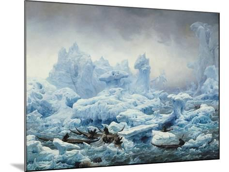 Fishing for Walrus in the Arctic Ocean, 1841-Francois Auguste Biard-Mounted Giclee Print