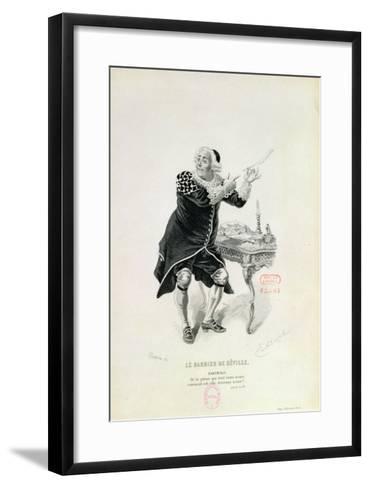 "Dr Bartolo, from the Opera ""The Barber of Seville"" by Rossini-Emile Antoine Bayard-Framed Art Print"