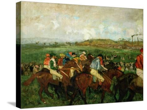 Gentlemen Race. Before the Departure, 1862-Edgar Degas-Stretched Canvas Print
