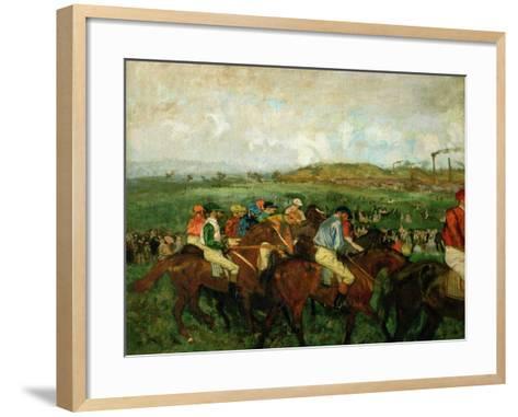 Gentlemen Race. Before the Departure, 1862-Edgar Degas-Framed Art Print