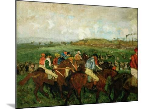 Gentlemen Race. Before the Departure, 1862-Edgar Degas-Mounted Giclee Print