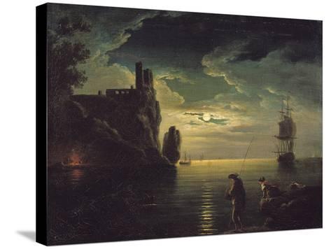 Evening Seascape-Claude Joseph Vernet-Stretched Canvas Print