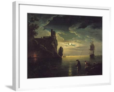 Evening Seascape-Claude Joseph Vernet-Framed Art Print