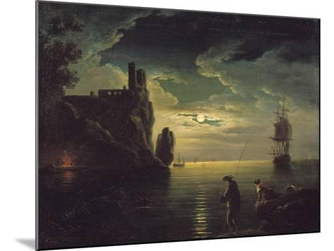 Evening Seascape-Claude Joseph Vernet-Mounted Giclee Print