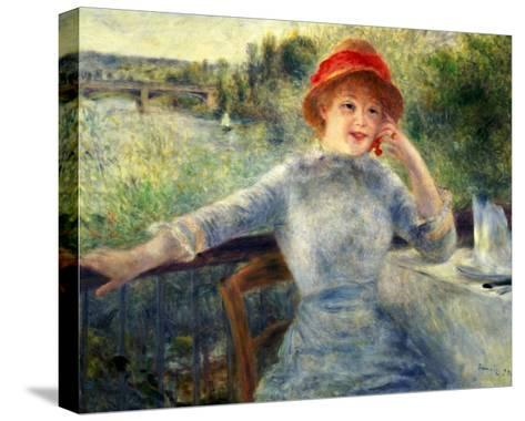 Alphonsine Fournaise at the Grenouillere, 1879-Pierre-Auguste Renoir-Stretched Canvas Print